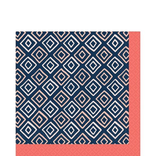 Bright Coral Diamond Lunch Napkins, 16-pk Product image