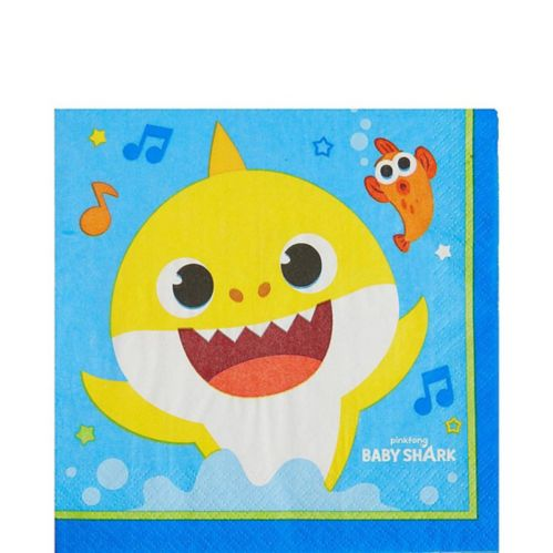 Baby Shark Lunch Napkins, 16-pk
