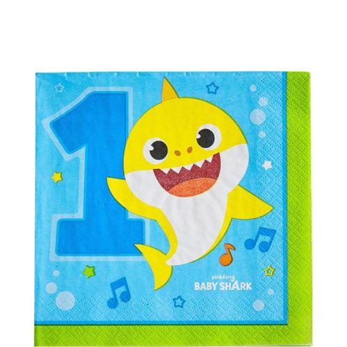 Baby Shark 1st Birthday Lunch Napkins, 16-pk