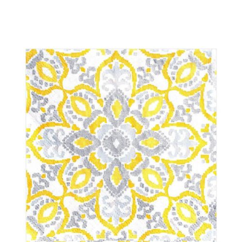 Yellow Tile Lunch Napkins, 16-pk Product image