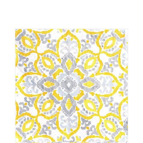 Yellow Tile Lunch Napkins, 16-pk