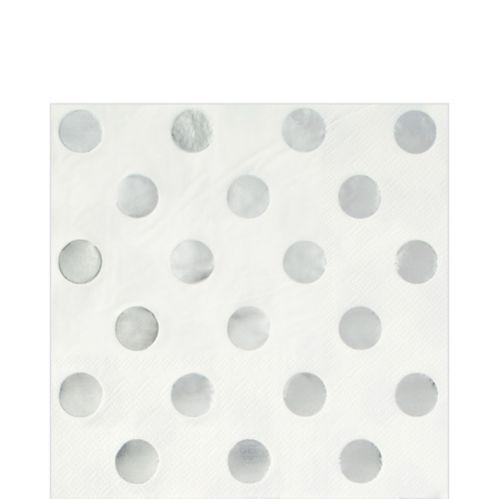 Serviettes de table métallisées, motif à pois, paq. 16 Image de l'article