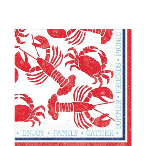 Seafood & Summer Lunch Napkins, 16-pk