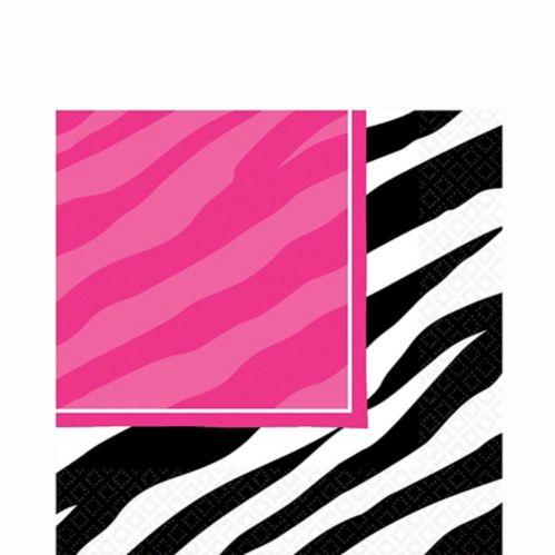 Zebra Print Lunch Napkins, 16-pk
