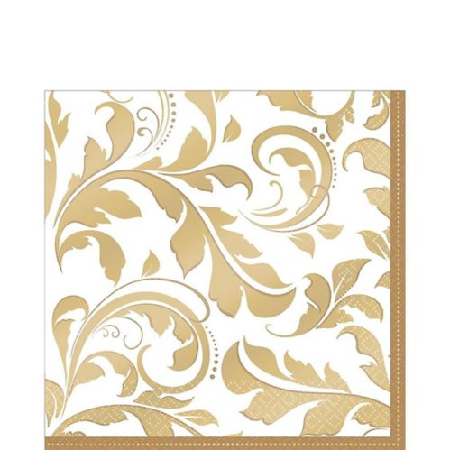 Golden Wedding Lunch Napkins, 16-pk