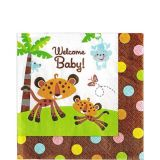 Fisher-Price Jungle Baby Shower Lunch Napkins, 16-pk