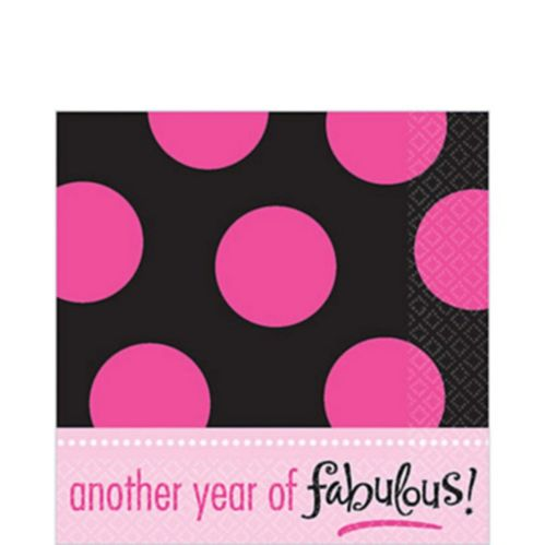 Another Year Fabulous Lunch Napkins, 16-pk