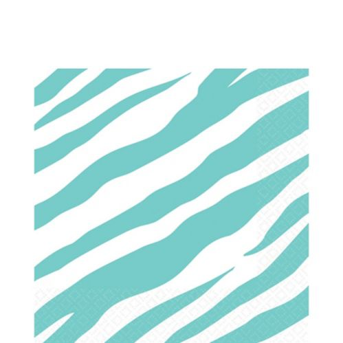 Robin's Egg Zebra Lunch Napkins Product image