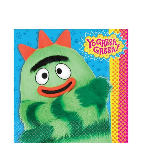 Serviettes de table Yo Gabba Gabba, paq. 16