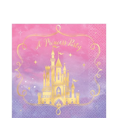 Metallic Disney Once Upon a Time Lunch Napkins, 16-pk