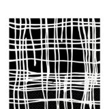 Crosshatch Lunch Napkins, Black