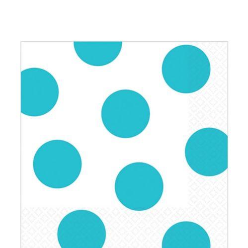Serviettes de table, motif à pois, carbone