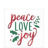 Metallic Peace Love Joy Lunch Napkins, 16-pk