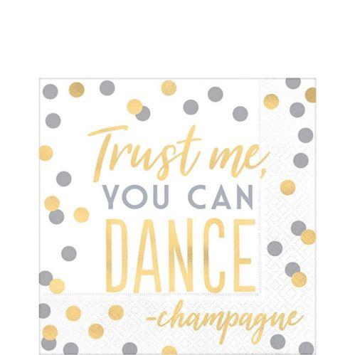 Serviettes de table « You Can Dance », or et argent métallique, paq. 16 Image de l'article