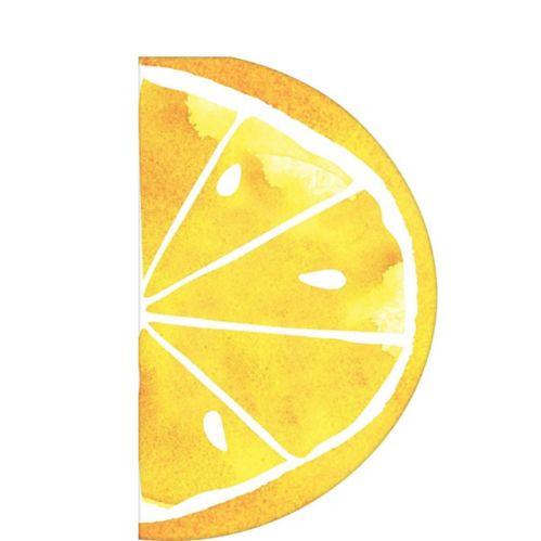 Serviettes de table avec imprimé de tranche de citron, paq. 16