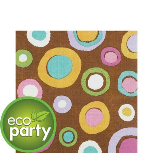Serviettes de table, motif à pois, cacao Image de l'article