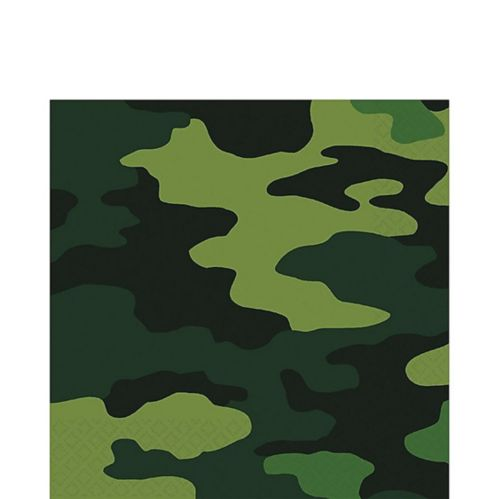 Serviettes de table à motif de camouflage, paq. 16