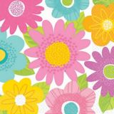 Serviettes de table Spring Fling motif printanier, paq. 16