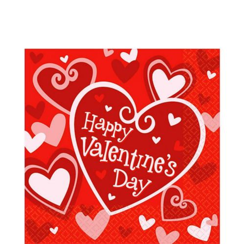 Be Mine Valentine's Day Lunch Napkins, 16-pk