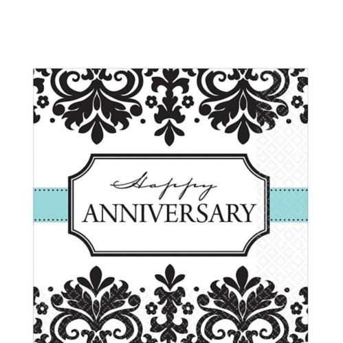 Always  Forever Anniversary Lunch Napkins, 16-pk