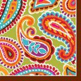 Serviettes de table, motif cachemire, paq. 16