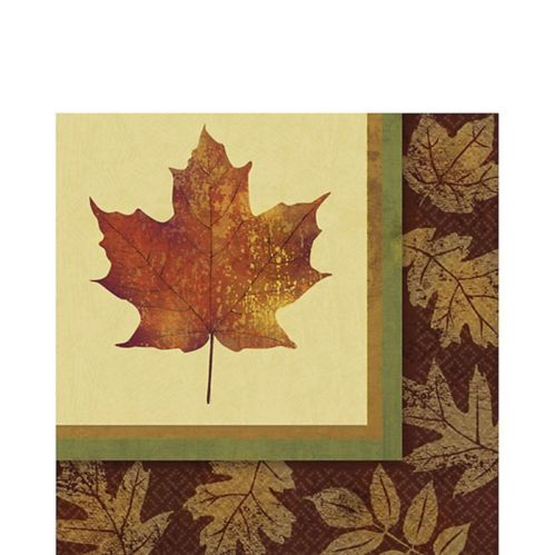 Fall Elegance Lunch Napkins, 16-pk