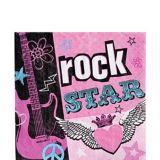 Rockstar Girl Lunch Napkins, 16-pk