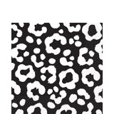 Serviettes de table à imprimé guépard noir de jais