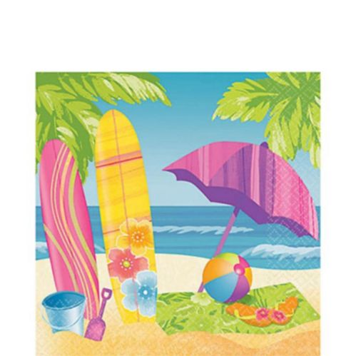 Surf's Up Lunch Napkins, 16-pk
