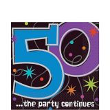 The Party Continues 50th Birthday Lunch Napkins, 16-pk