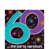 Serviettes de table La fête continue, 60e anniversaire, paq. 16