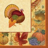 Thanksgiving Scrapbook Lunch Napkins, 16-pk