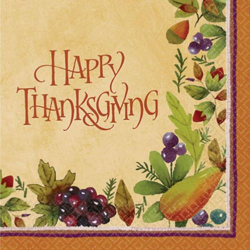 Thanksgiving Medley Lunch Napkins, 16-pk