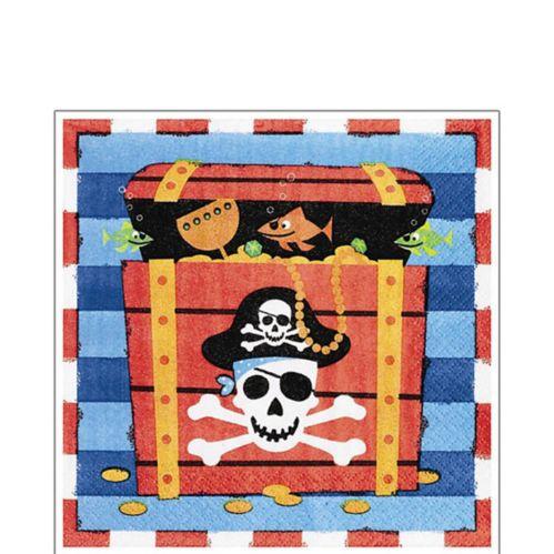 Serviettes de table trésor de pirate, paq. 16