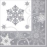 Sparkling Snowflake Dinner Napkins, 16-pk