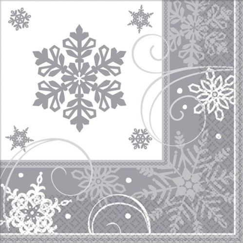 Sparkling Snowflake Dinner Napkins, 16-pk Product image