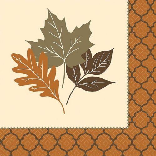 Copper Leaf Dinner Napkins, 16-pk