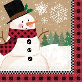 Winter Wonder Snowman Dinner Napkins, 16-pk