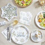 Shining Snow Dinner Napkins, 16-pk