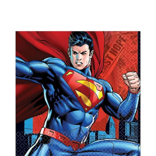 Superman Lunch Napkins, 16-pk