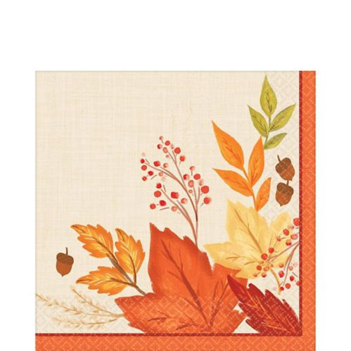 Fall Foliage Dinner Napkins, 16-pk