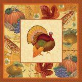 Thanksgiving Scrapbook Dinner Napkins, 16-pk