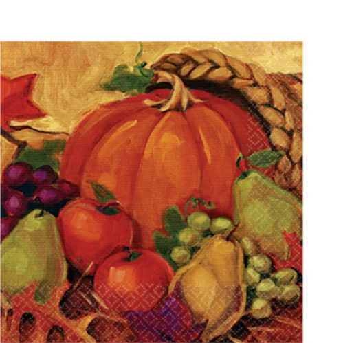 Harvest Still Life Dinner Napkins, 16-pk