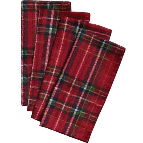 Serviettes en tissu à carreaux traditionnels, paq. 4