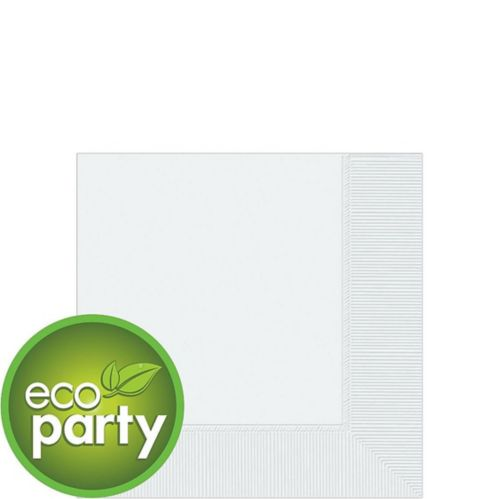 White 2-Ply Eco Beverage Napkins