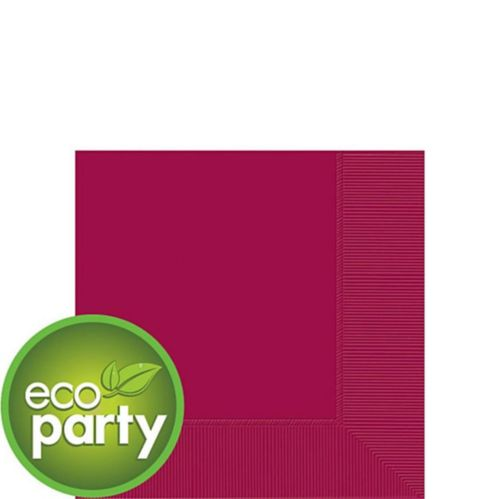Eco-Friendly Raspberry Beverage Napkins, 50-pk