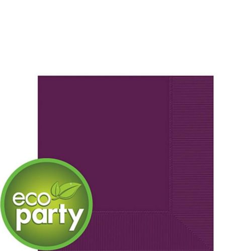 Eco-Friendly Plum Beverage Napkins, 50-pk