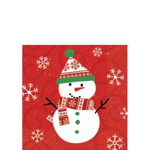 Very Merry Snowman Beverage Napkins, 30-pk