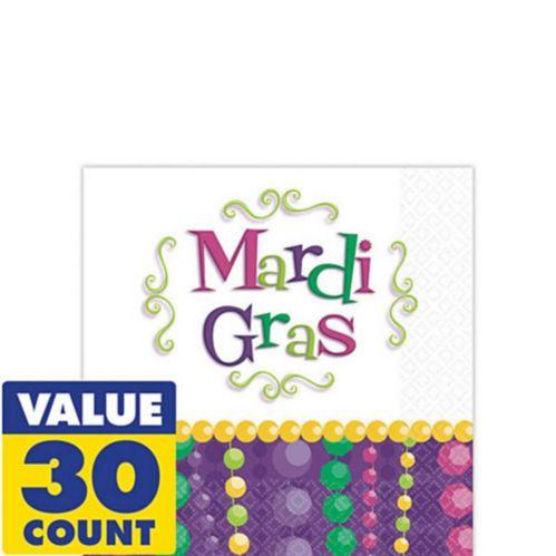 Serviettes à boissons pour célébration du Mardi gras