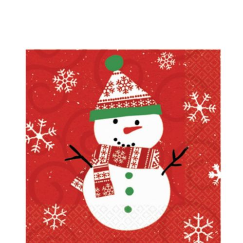 Very Merry Snowman Lunch Napkins, 20-pk